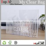 transparent my clear bag PP file bag envelope paper file folder document bag with button lock