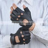 Real leather Men bicycle gloves