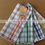 cotton/polyester plain weave check tea towel TY222