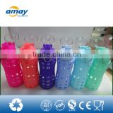 2016 New arrivals best selling products plastic bottles joyshaker hot glass water bottle with mental lid 2646