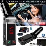 Brand New Wireless LCD Bluetooth Car Conversion Kit 12V MP3 Player Dual USB Charger Handsfree FM Transmitter