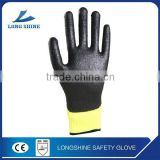High Quality Black Power Free Latex Coated Knitter Liner Garden Safety Working Gloves