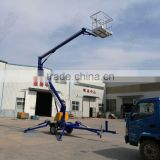 articulated trailer with arm lift hydraulic drives china hydraulic jack lifting equipment construction towable spider boom lift