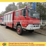 Best quality low price 8000litres dongfeng fire ladder truck