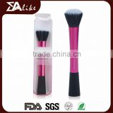 High quality synthetic facial flat top liquid foundation makeup stippling brush
