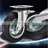 EN 840 Trash Bin Container Industrial Casters with Mold on Hard Rubber & PP Core Wheels