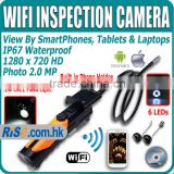 HD Waterproof iPad IPhone iOS Android WiFi Inspection Camera Borescope Endoscope