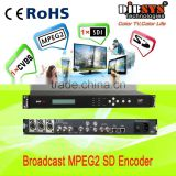 Single channel mpeg-2 sd Encoder support AES/EBU,SDI,AV YPbPr, S-Video interfaces inputs