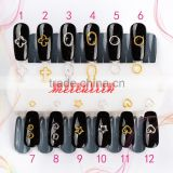 Different Shapes Super Flash Metal Rings Nail Accessories Metal Ring Circle Star Rings ZX:R487