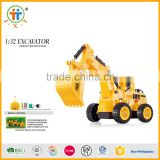 1:32 5chanel RC excavator Radio control loaders big rc car toys factory kids toy car with Rechargeable battery & USB line