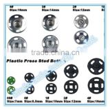Cheap metal and plastic press stud button