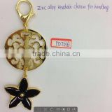 zinc alloy metal keychain charm for handbag