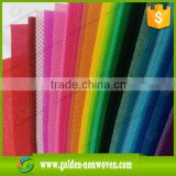 colorful fire retardant pp polypropylene TNT Non-woven Cloth Fabric textile rolls cloth for furniture