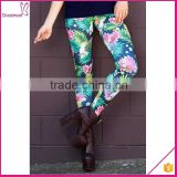 Fresh Style High Waist Various Floral wholesale custom printed leggings Leggings for Women Fitness