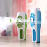 New USB portable handheld mini personal facial air water 2 in 1 Adjustable Ultrasonic Air Humidifier + Cooling Fan