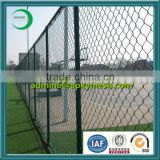 High safety pvc coating chain link fence for baseball fields