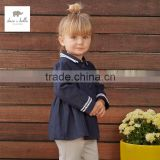 DB3365 dave bella spring new arrivel infant clothes toddler coat baby outwear hoodie wholesale baby clothes children hoddies