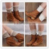 Winter leg warmer,cute lace ankle sock,lady sock,wholesale lace boot socks