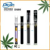 Dican cbd oil cartridge disposable vape pen e cigarette metal tube bbtank vaporizer pen wholesale