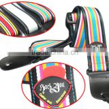 Leather nylon Electric Guitar Strap With Fashion Colorful Wholesale bass strap pick bag