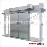 double leaf stainless steel electrical sliding door for cold storage room