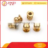 Best various type and color leather hardware screw button studs