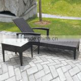 00 aluminum furniture for outdoor garden leisure folding deck chair sun lounge with table YPS065