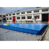 1.32M height inflatable outdoor rubber swimming pool with 0.9mm netted PVC tarpaulin