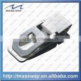 promotional silver high grade zinc alloy custom 3D money clip holder