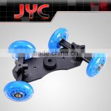 DSLR Truck Skater Wheels Table Top Compact Dolly Kit Slider For Video Camera Photographic Equipment