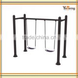 Outdoor Kindergarten Galvanized Three Kids Seat Playground Swing Set