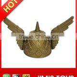 Gold Plastic Viking Hat with Angel Wings Parties & Carnivals & Christmas Plays