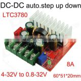 DC DC converter for solar panel input voltage vary between 4V to 15V output 12V 8A dc dc step up / down converter
