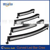 "2015 New CRE E 288w 50"" curved led light bar,jeep wrangler roof light bar,52 inch led bars"
