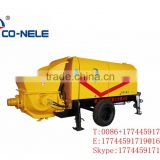 Manufacturer of High Quality Diesel Concrete Trailer Pump HBT40 cublic meter phr. for sale
