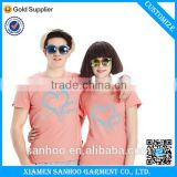 Wholesale Factory Price Cutom Family Matching Clothing Cotton Couple T Shirts High Quality From China