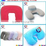 new soft cheap folding inflatable travel pillow with speaker
