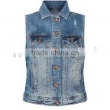 Blue Denim Gilet womens denim vest