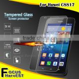 2016 competitive tempered glass price 9H 2.5D 0.33mm laptop tempered glass screen protector For Huawei C8817