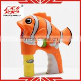 Child toys fish shape plastic material toy bubble gun