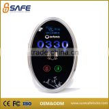 Modern hotel outdoor touch button switch glass panels