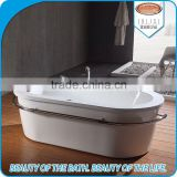 Custom size classic oval acrylic simple bathtubs