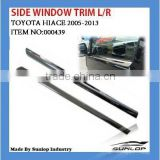 car body parts 000439 Chrome side window trim for Toyota hiace 2005 up,commuter van,quantum,hiace 200