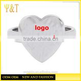 Jingli Jewelry design your own rings, stainless steel heart shape rings designs for girls (HS-035