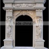 Cheapest Marble Door Surround With Female Statues