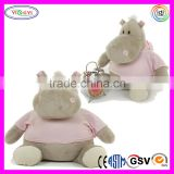 D686 Sitting Singing Songs Alarm Clock Stuffed Soft Hippo Toy Plush Singing