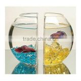 Fashion OEM transparent artificial large acrylic fish aquarium for decoration