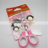 plastic handle stainless steel student scissors