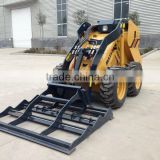 Mini loader ditcher/ trencher for Mini skid steer loader,26hp perkins engine with attachment Land leveler