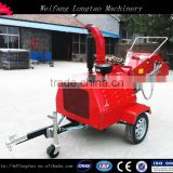 ATV towable mini diesel engine electric starting wood chipper with hydraulic feeding CE approved